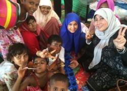 PKB Ceriakan Anak Rohingya Dengan Permainan Congklak